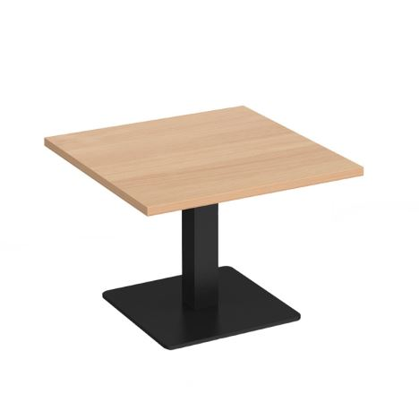 Brescia - Square Coffee Table with Flat Square Base - 700 - Black Base - Beech