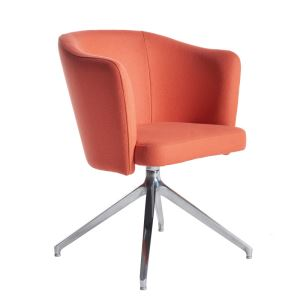 Otis Single Seat Tub Chair with Four Star Swivel Base