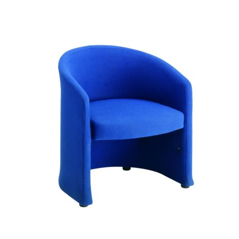 Slender Fabric Reception Range - Single Seater Chair - 620mm wide