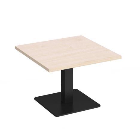 Brescia - Square Coffee Table with Flat Square Base - 700 - Black Base - Maple
