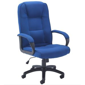 High Back Fabric Managers Armchair