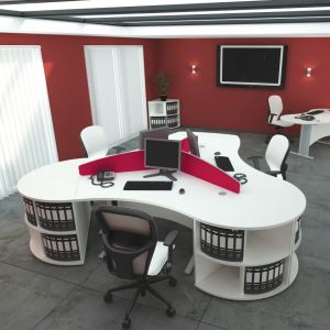 Qudos Cable Managed Desks