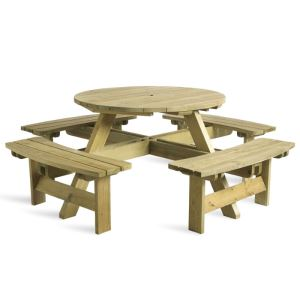 Round 8 Seat Picnic Table