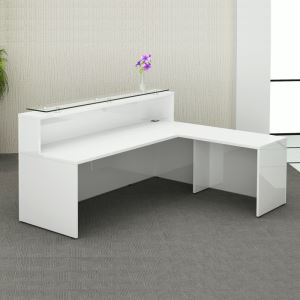 Gloss White Reception Counter