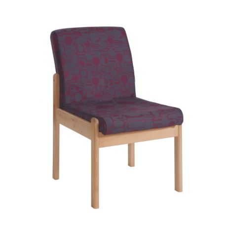 Meavy Modular Beech Wooden Frame Chair - Single Seat without Arms