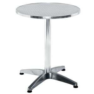 Plaza Round Table - Aluminium