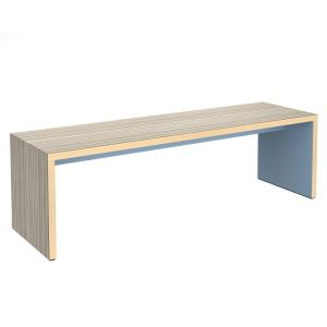 Slab Benching Solution Dining Table