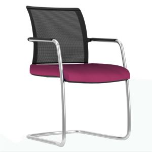 Mesh Back Cantilever Armchair