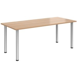 Rectangular Radial Leg Meeting Table