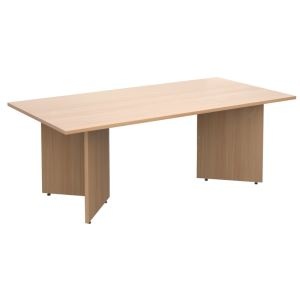 Rectangular Boardroom Table with Arrow Head Leg